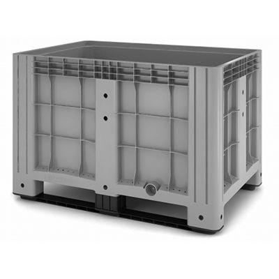 Цельнолитой пластиковый контейнер iBox 1200х800 (сплошной, на полозьях)
