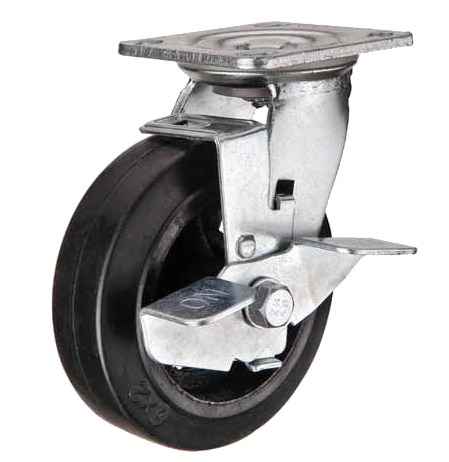 Колесные опоры поворотные с тормозом 912200, D 200 м