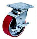 Колесные опоры поворотные с тормозом 916100, D 100 м