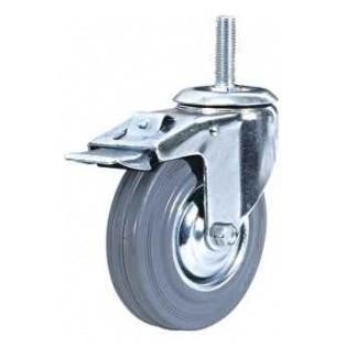 Колесные опоры аппаратные поворотные с тормозом 935125М10, D 125 мм