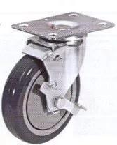 Колесные опоры аппаратные поворотные с тормозом 93310001, D 100 мм