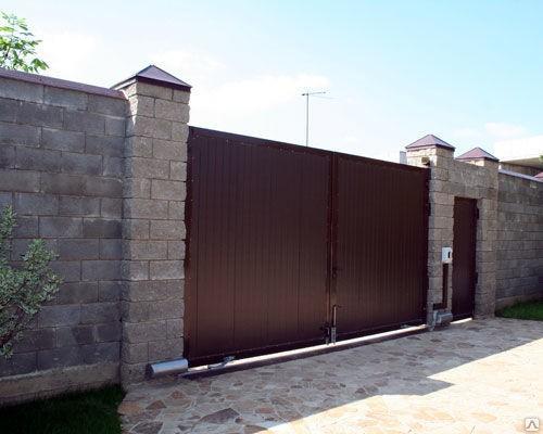 Уличные распашные ворота стандартных размеров