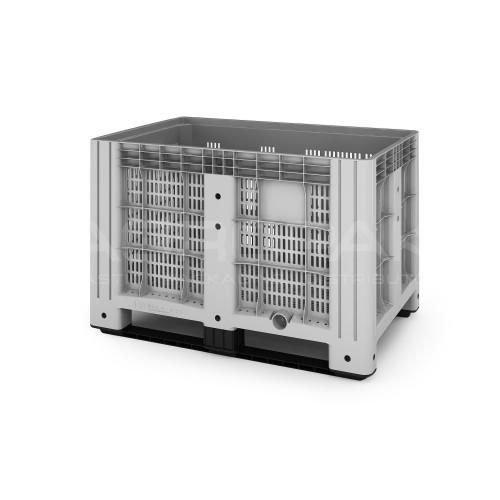Перфорированный полимерный контейнер на полозьях Ibox 11.602.91.РЕ.C9