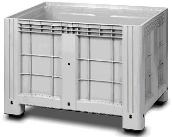 """Цельнолитой полимерный контейнер  на 4-х ножках с пробкой 2"""" Ibox 1200х800 (серый)"""