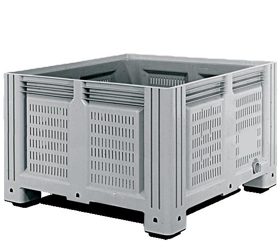 Пластиковый контейнер iBox 1200х1000х760 (серый, на полозьях)