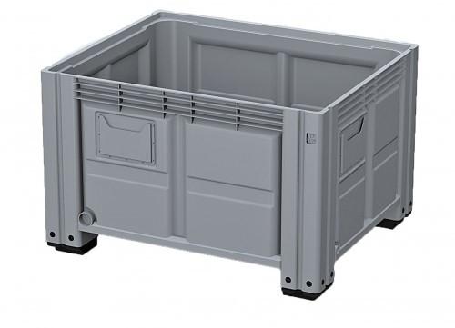 Пластиковый контейнер iBox 1130x1130x760  (серый, зеленый  на полозьях)