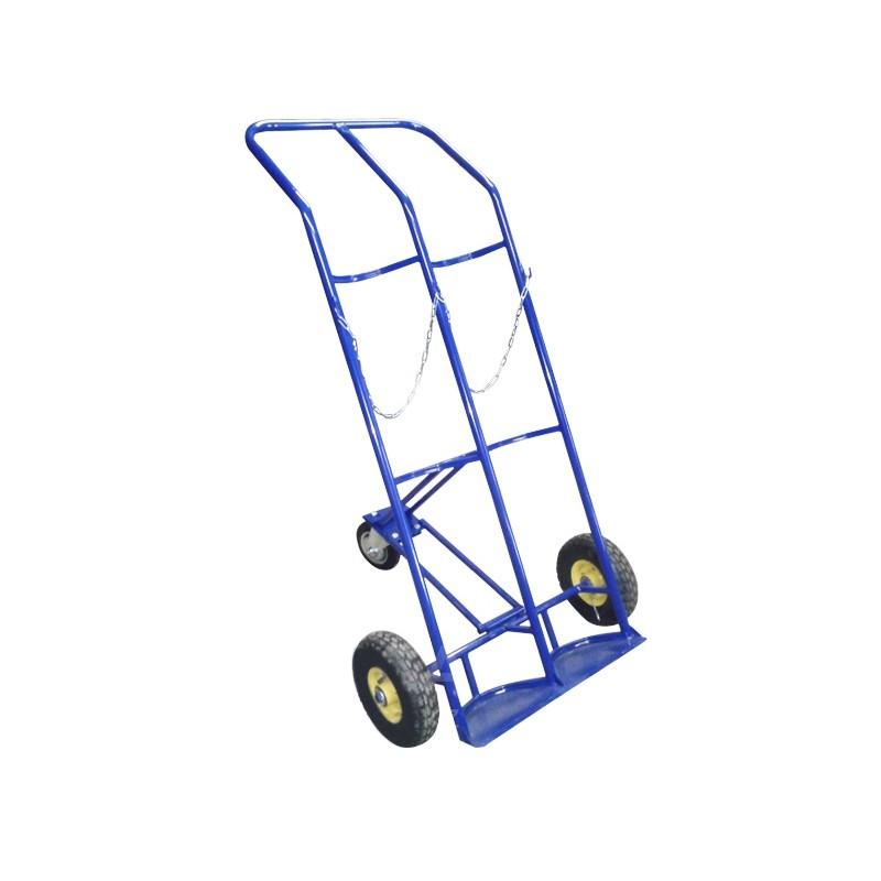 Тележка двухколёсная ГБ-2 для 2-х баллонов на колесах (литая резина)