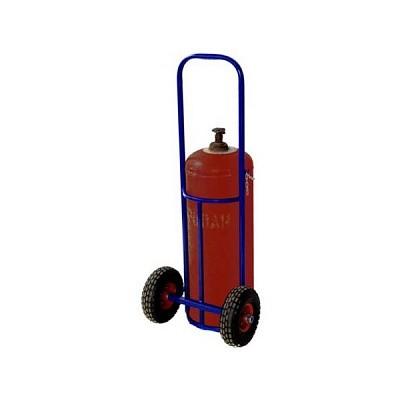 Тележка двухколёсная ПР 1 для перевозки одного пропанового баллона (литая резина)