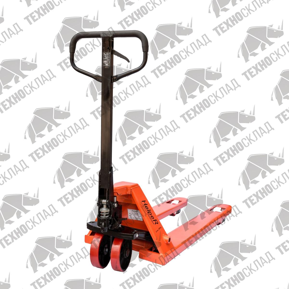 Эконом складская гидравлическая тележка HELPER HR 2500-1150-550