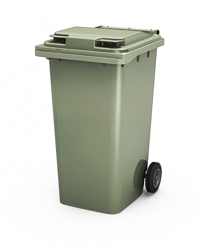 Передвижной мусорный контейнер с крышкой, внутренний объем 240 л.
