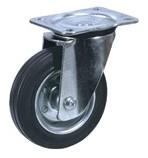 Колесные опоры промышленные усиленные поворотные 90220001, D 200 мм.