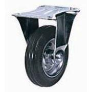 Колесные опоры промышленные усиленные неповоротные 90110001, D 100 мм.