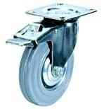 Колесная опора поворотная с тормозом 933160, D 160 мм.